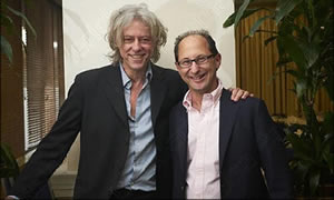 Jonathan Berliand with Sir Bob Geldof